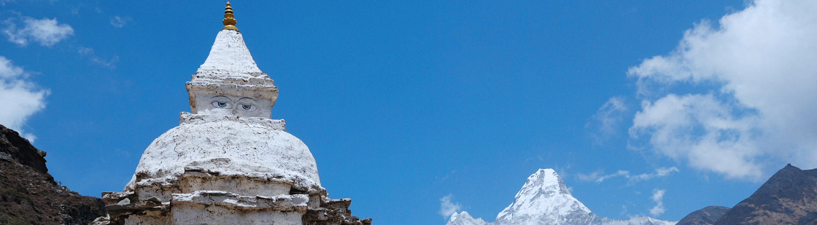 Mount Ama Dablam and Stupa