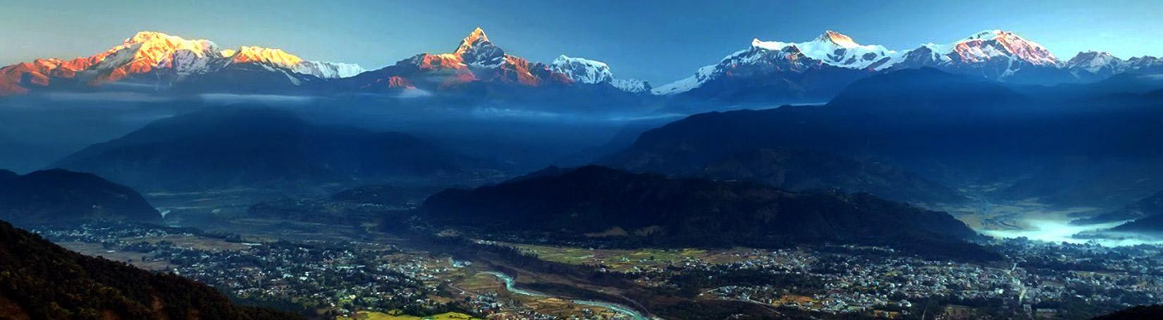 Annapurna Range and Pokhara City