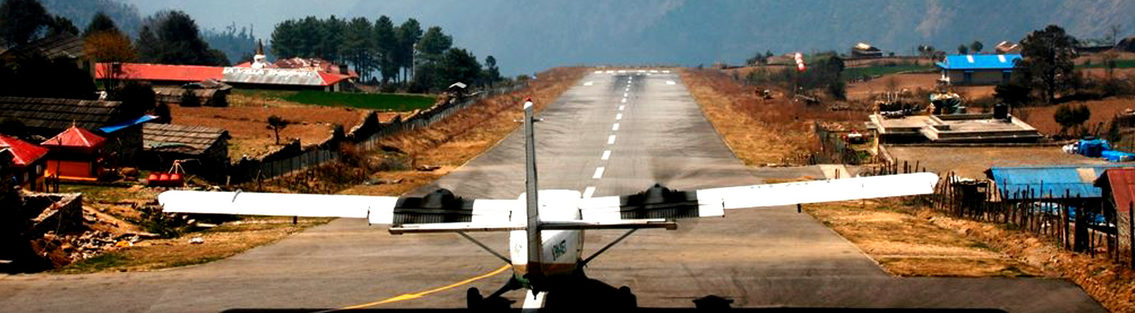 TENZING HILLARY AIRPORT AT LUKLA