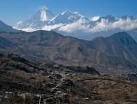 Landscape view of Muktinath Temple