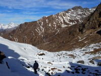 Snow Trail in Panch Pokhari